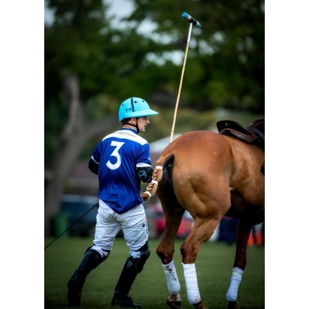 Light Blue Polo Helmet