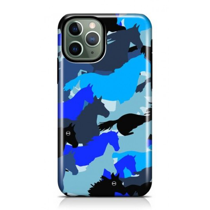 Iphone Blue Camouflage Case