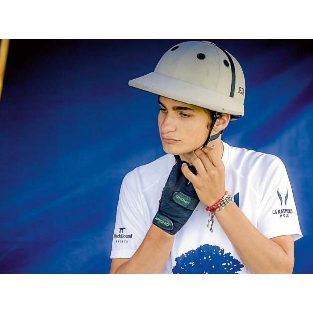 Grey Polo Helmet