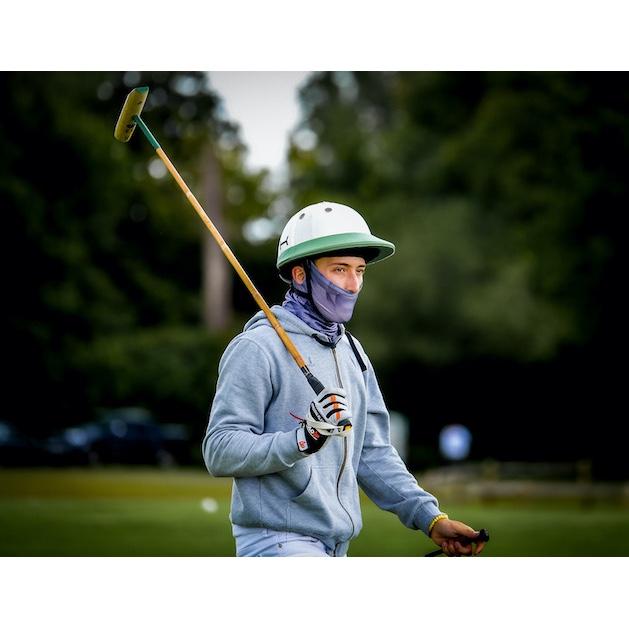 White and Green Helmet