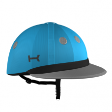 Blue and Grey Helmet