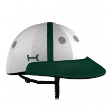 White and Green Helmet