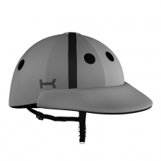 Grey Polo Helmet