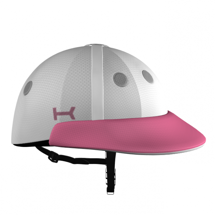 White and Pink Helmet